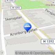 Karta Mlb i Helsingborg AB Helsingborg, Sverige