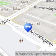 Karta Expressdäck Malmö, Sverige