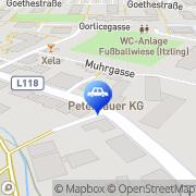 Karte Renault und Dacia Peterbauer Herbert KG Salzburg, Österreich