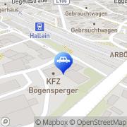 Karte KFZ Bogensperger Hallein, Österreich