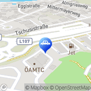 Karte JET Tankstelle Hallein, Österreich