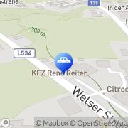 Karte Reiter Rene KFZ-Reparatur u Hdl m Zubehör u Ersatzteilen Neuhofen an der Krems, Österreich