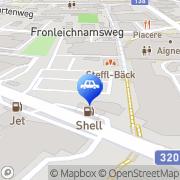 Karte Ennstal Auto Liezen - Landmarkt Liezen, Österreich