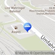 Karte AVANTI Automaten-Tankstelle Linz, Österreich