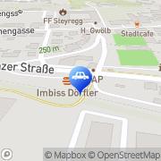 Karte AVIA-Tankstelle Steyregg, Österreich
