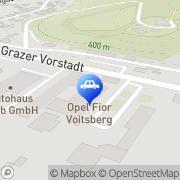 Karte Autohaus Binder Fior West Voitsberg, Österreich