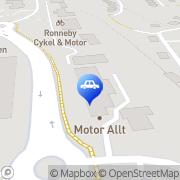 Karta Motor-Allt i Ronneby AB Ronneby, Sverige