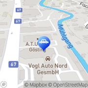 Karte A.T.U Graz - Gösting Graz, Österreich