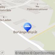 Karta Borlänge Bilplåtslageri AB Borlänge, Sverige
