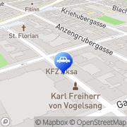 Karte KFZ AKSA Meisterbetrieb Wien, Österreich