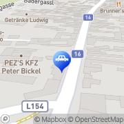 Karte PEZ'S KFZ Peter Bickel Münchendorf, Österreich