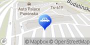 Map AAA Auto Bratislava, Slovakia