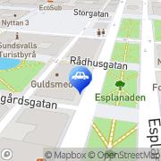 Karta City Trafikskola Sundsvall, Sverige