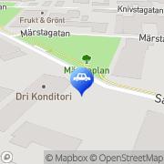 Karta Lundells Motor AB Uppsala, Sverige