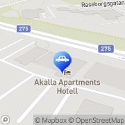 Karta Stockholms Trafikskola Kista, Sverige
