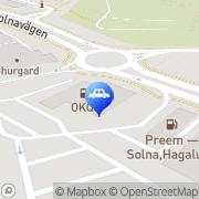 Karta OKQ8 Solna, Sverige
