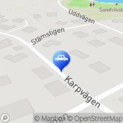 Karta Bilradiospecialisten i Stockholm AB Lidingö, Sverige