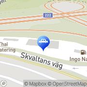 Karta Carglass Sweden AB Nacka, Sverige