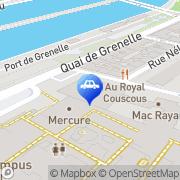 Carte de Renault pièces de rechange et accessoires Paris Grenelle Paris, France