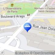 Carte de Renault minute St Jacques Paris, France