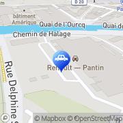 Carte de Renault pièces de rechange et accessoires Pantin Pantin, France