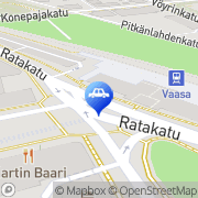 Kartta A-Car-Rent Oy Pohjanmaa Vaasa, Suomi