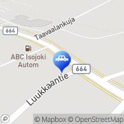 Kartta ABC automaattiasema Isojoki, Suomi