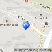Kartta ABC automaattiasema Mynämäki, Suomi