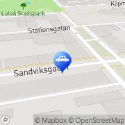 Karta Vågelinds Trafikskola Luleå, Sverige