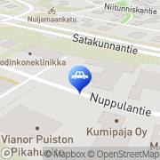 Kartta Puiston Pikahuolto Turku, Suomi