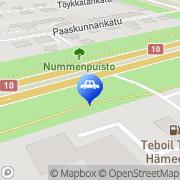 Kartta Teboil automaattiasema Turku, Suomi