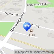 Kartta ABC automaattiasema Kaarina, Suomi