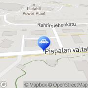 Kartta Tampereen Autolasipalvelu Tampere, Suomi