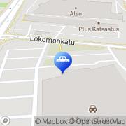 Kartta Tampereen Ajoneuvopesu Oy Tampere, Suomi
