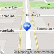 Kartta Neste A24 automaattiasema Tampere, Suomi