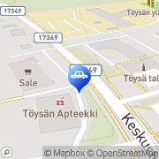 Kartta ABC automaattiasema Töysä, Suomi