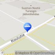 Kartta Neste D-asema Turenki, Suomi