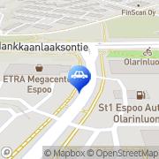 Kartta St1 Espoo Olarinluoma Espoo, Suomi