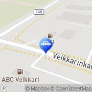 Kartta ABC automaattiasema Veikkari Hyvinkää, Suomi