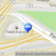 Kartta Teboil Express-automaattiasema Espoo, Suomi