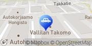 Kartta Vallilan Takomo/Punkka Pitäjänmäki Helsinki, Suomi