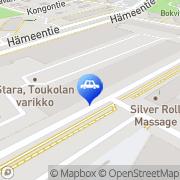 Kartta Helsingin kaupunki HKR-Tekniikka auto ja konepalvelu Helsinki, Suomi
