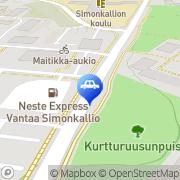 Kartta Neste A24 automaattiasema Vantaa, Suomi