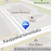 Kartta MW Finland Oy / Toyota Itäkeskus Helsinki, Suomi