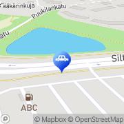 Kartta ABC automaattiasema Jämsä, Suomi