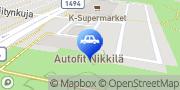 Kartta Autofit Nikkilä Sipoo, Suomi