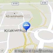 Kartta Neste D-asema Oulu, Suomi