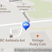 Kartta ABC automaattiasema Vehko, Suomi
