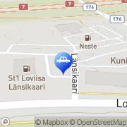 Kartta Neste D-asema Loviisa, Suomi