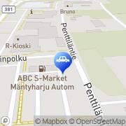 Kartta ABC automaattiasema Mäntyharju, Suomi